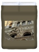 Neptune And The Lion Atop The Giants Staircase Duvet Cover