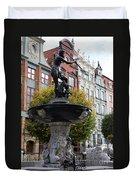Neptune's Fountain - Gdansk Duvet Cover