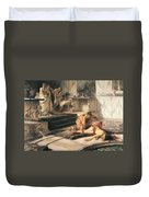 Nero And Agrippina Duvet Cover