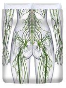 Nervous System, Illustration Duvet Cover
