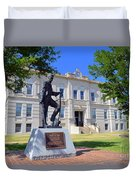 Ness County Courthouse In Kansas Duvet Cover