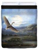 Nesting Egrets Duvet Cover