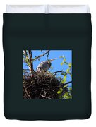 Nesting Great Blue Heron Duvet Cover