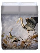 Nesting Time Duvet Cover by Debra and Dave Vanderlaan