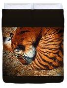 Nestled Tiger Duvet Cover