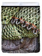 Nets And Knots Number Three Duvet Cover by Elena Nosyreva
