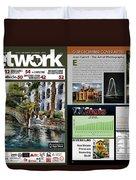 Network Magazine Feature Duvet Cover