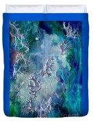 Neuronal Lunar Essence Duvet Cover