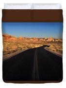 Nevada. Desert Road Duvet Cover
