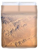 Nevada Mountains Aerial View Duvet Cover