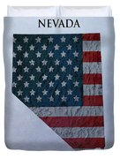 Nevada Topographic Map Duvet Cover