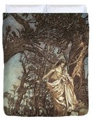 Never So Weary Never So Woeful Illustration To A Midsummer Night S Dream Duvet Cover