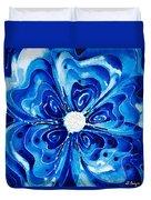 New Blue Glory Flower Art - Buy Prints Duvet Cover