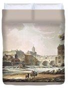 New Bridge, From Bath Illustrated Duvet Cover