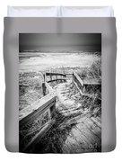 New Buffalo Michigan Boardwalk And Beach Duvet Cover by Paul Velgos