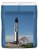 New Cape Henry Lighthouse Duvet Cover