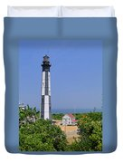 New Cape Henry Lighthouse Vertical Duvet Cover