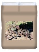 New Crop Antiquated Plow Duvet Cover