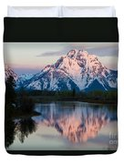 New Day Of Peace In Teton National Park Duvet Cover