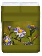 New England Asters Duvet Cover