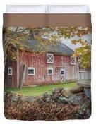 New England Barn Square Duvet Cover