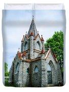 New England Cemetery Mausoleum Duvet Cover