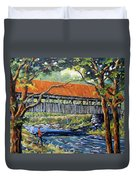 New England Covered Bridge By Prankearts Duvet Cover by Richard T Pranke