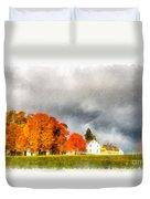 New England Village Duvet Cover