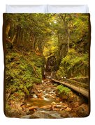 New England Waterfall Gorge Duvet Cover