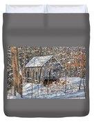 New England Winter Woods Duvet Cover