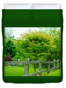 New England Wooden Fence Duvet Cover