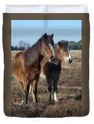 New Forest Ponies Duvet Cover