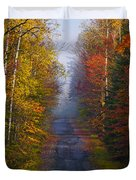 New Hampshire Back Road Duvet Cover