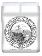 New Hampshire State Seal Duvet Cover