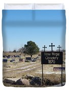 New Hope Cemetery Duvet Cover
