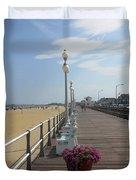New Jersey Boardwalk Duvet Cover