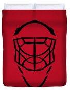 New Jersey Devils Goalie Mask Duvet Cover