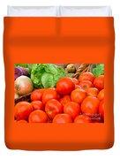 New Jersey Farm Market Goodness Duvet Cover