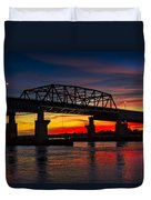 New Jersey Meadowlands Sunset Duvet Cover