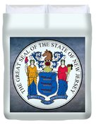 New Jersey State Seal Duvet Cover
