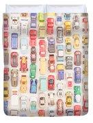 New Jersey Traffic Jam Duvet Cover