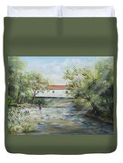 New Jersey's Last Covered Bridge Duvet Cover by Katalin Luczay