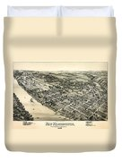 New Kensington Pennsylvania 1896 Duvet Cover