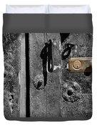 New Lock On Old Door 2 Duvet Cover