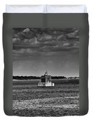 New London Shelf Light Black And White Duvet Cover
