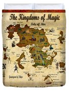 New Map Of The Kingdoms Of Magic Duvet Cover