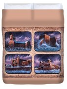 New Mexico Churches In Snow Duvet Cover