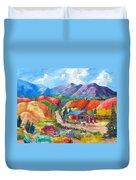New Mexico Colors Duvet Cover