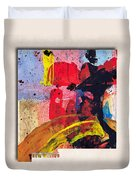 New Mexico Map Art - Painted Map Of New Mexico Duvet Cover