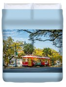 New Orleans - Canal St Streetcar 2 Duvet Cover
